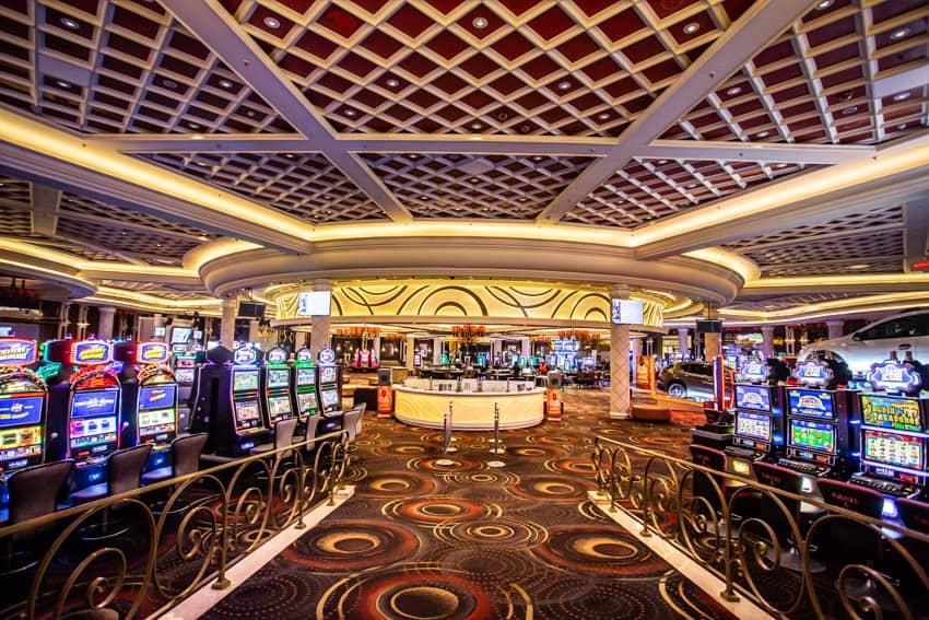 Gaming floor full of slots at Silverstar casino