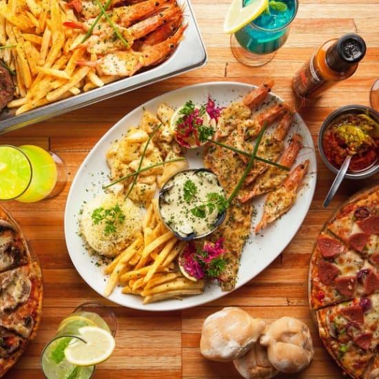 Food platter top view