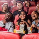 Family of three at Silverstar casino's movies@ cinema