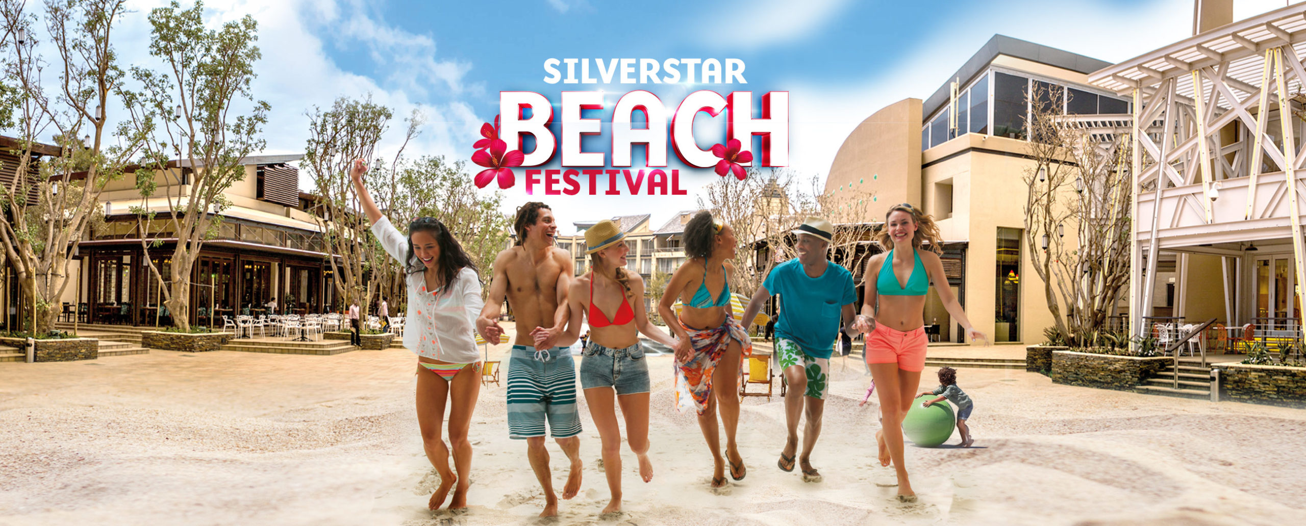 Silverstar Beach Festival event banner at The Square
