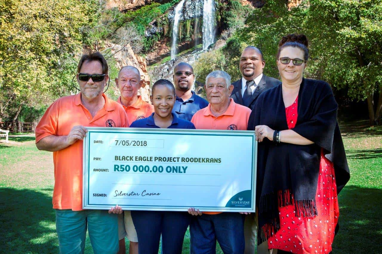 Black Eagle Project Roodekrans Cheque Handover Silverstar Casino