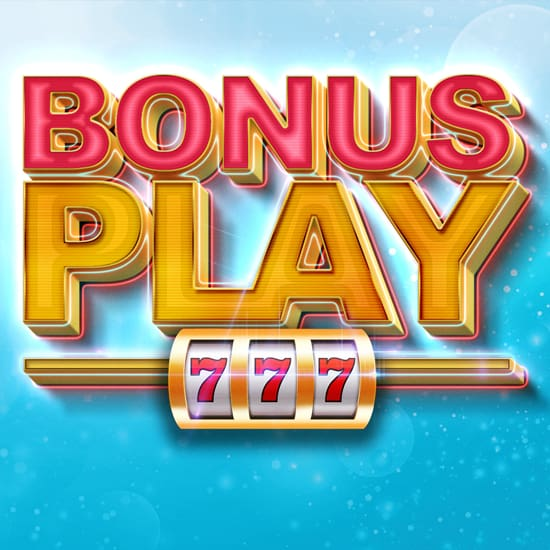 Bonus Play gaming promotion small banner at Silverstar