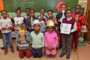 Learners at the Hartzstraat Primary