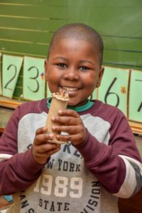 SC Int Chess Day - Grade 2 learner shows off his creative work at Silverstar