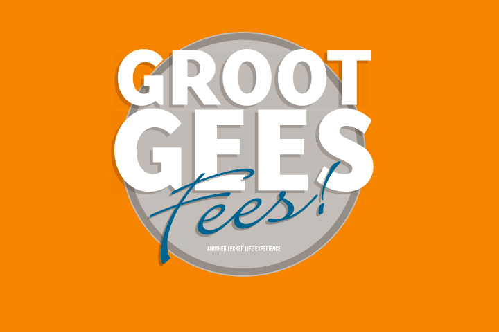 Groot Gees fees event logo