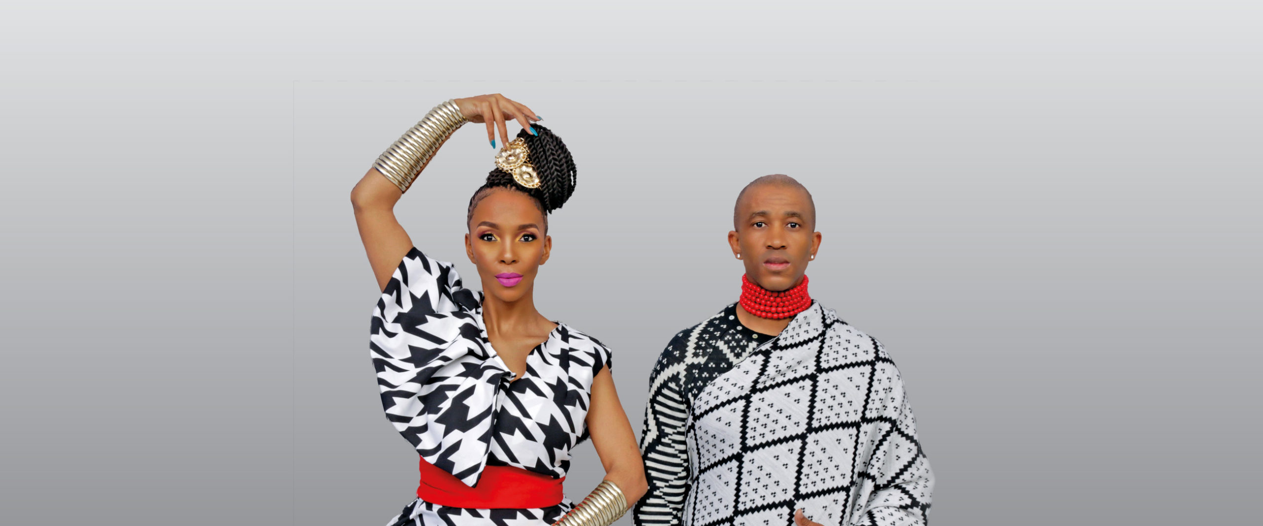 Mafikizolo dress in black and white