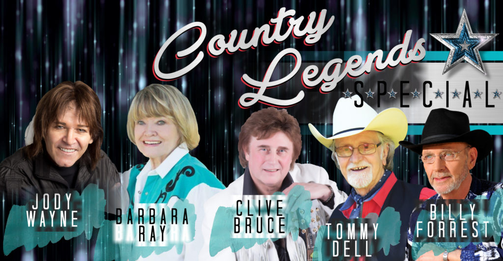 Country Legends Jody Wayne, Barbara Ray, Clive Bruce, Tommy Dell & Billy Forrest.